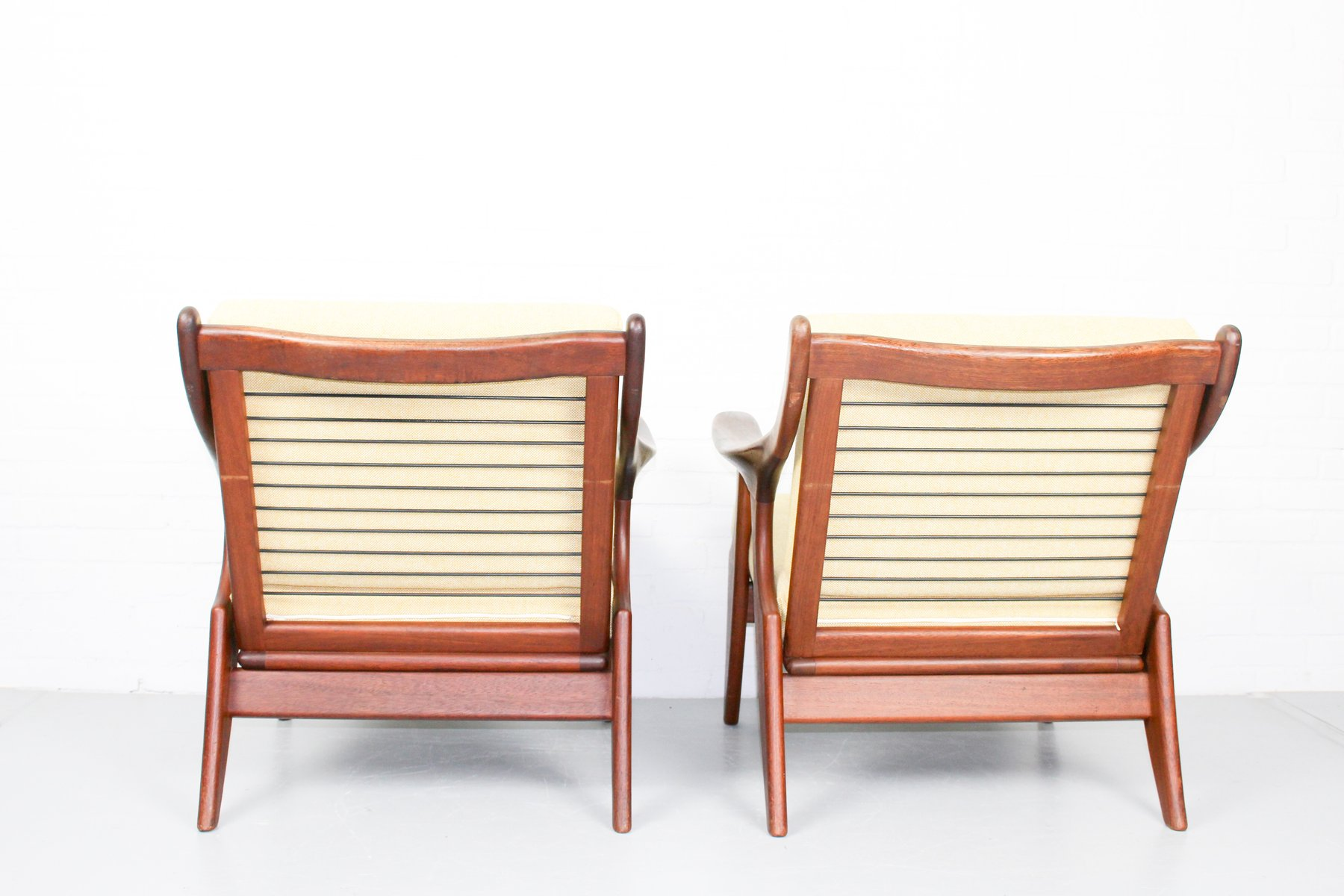 Small lounge chairs by de ster gelderland 1950s set of 2 for Small lounge chairs for sale