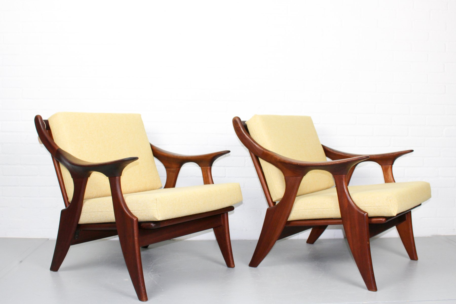 Small Lounge Chairs by De Ster Gelderland 1950s Set of 2 for