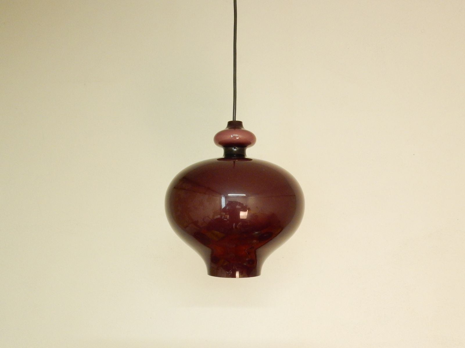 Purple glass pendant light by hans agne jakobsson 1960s for sale purple glass pendant light by hans agne jakobsson 1960s for sale at pamono arubaitofo Gallery