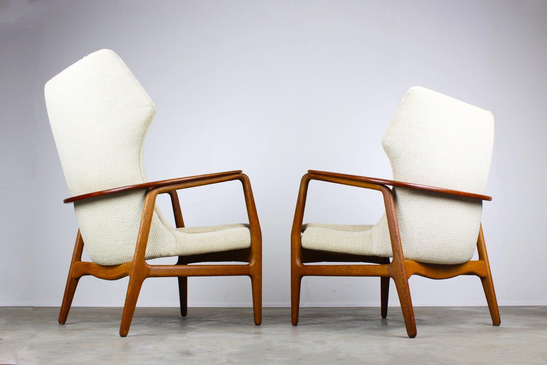 mid century wingback living room set by aksel bender madsen for bovenkamp set of 3 for sale at. Black Bedroom Furniture Sets. Home Design Ideas