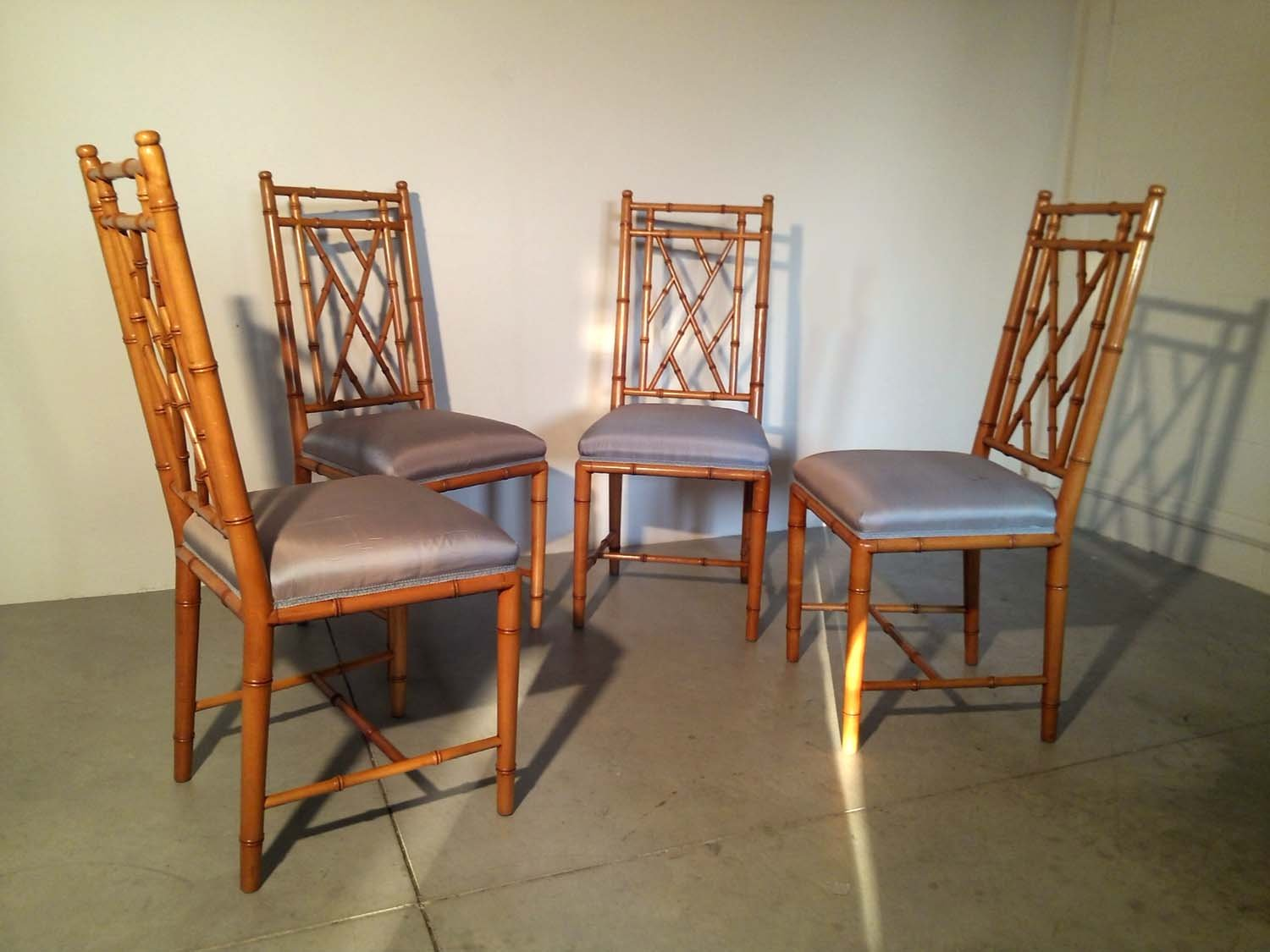Faux Bamboo Chairs 1970s Set Of 4 For Sale At Pamono