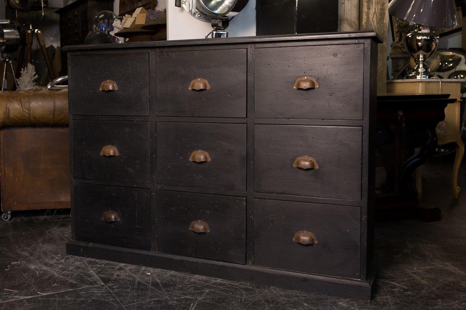 schwarze antike schr nke 2er set bei pamono kaufen. Black Bedroom Furniture Sets. Home Design Ideas