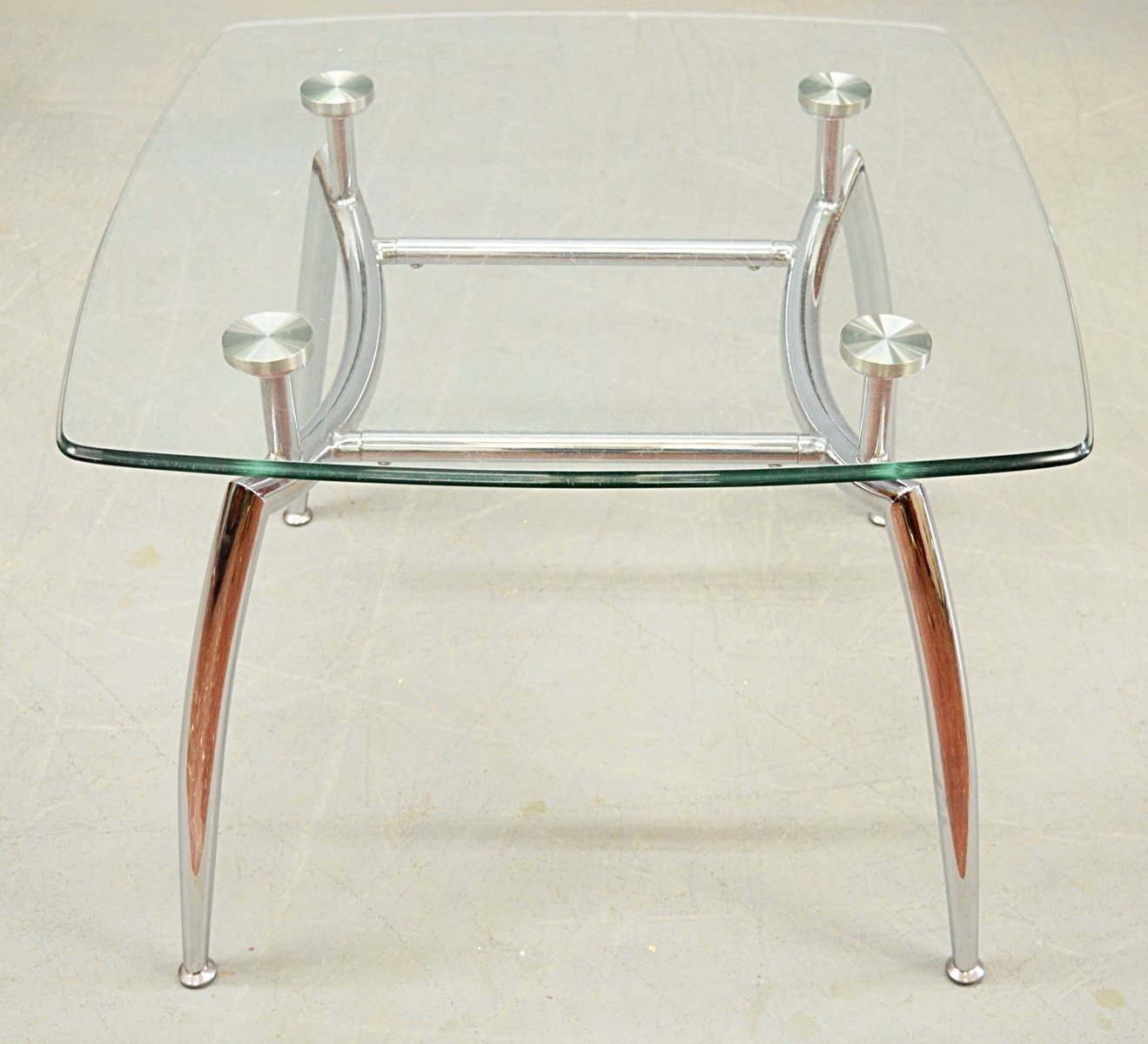 Glass Chrome Coffee Table 1980s for sale at Pamono