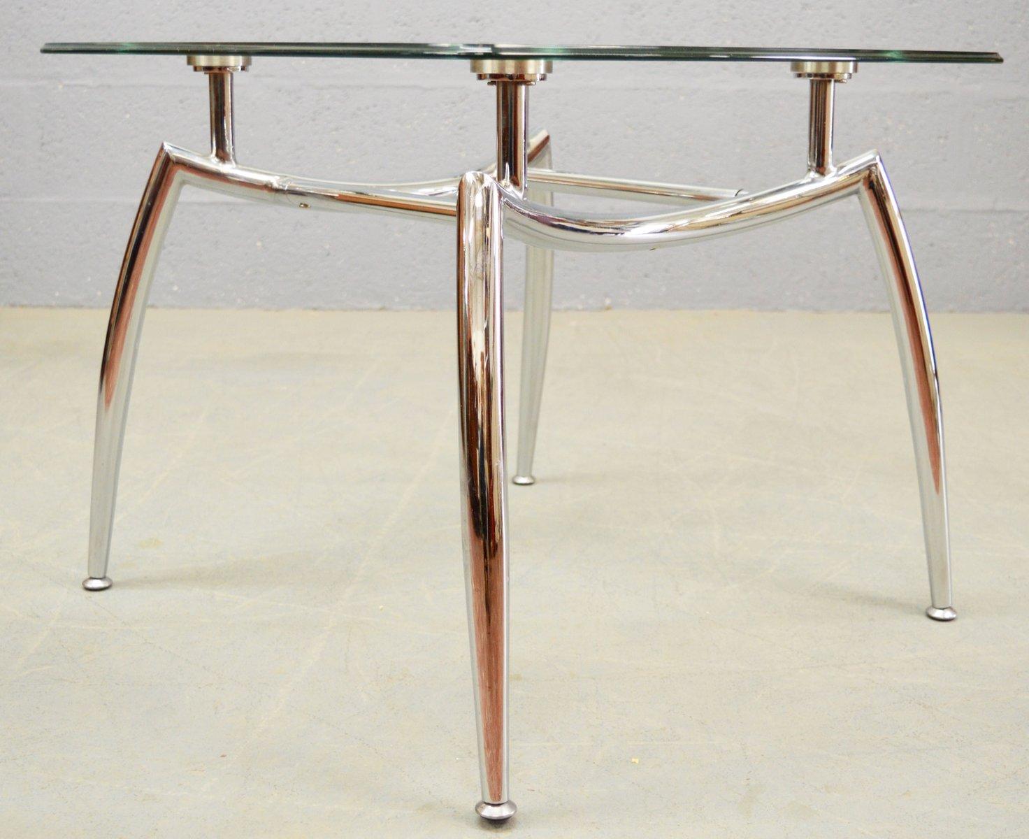glas chrom couchtisch 1980er bei pamono kaufen. Black Bedroom Furniture Sets. Home Design Ideas