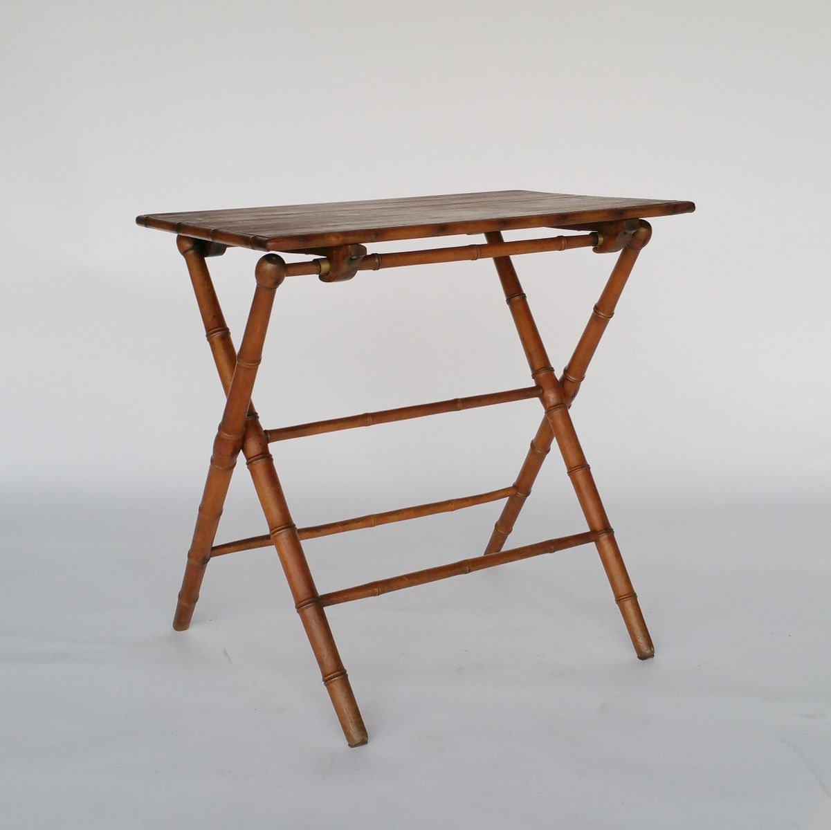 vintage faux bamboo wooden folding table for sale at pamono. Black Bedroom Furniture Sets. Home Design Ideas