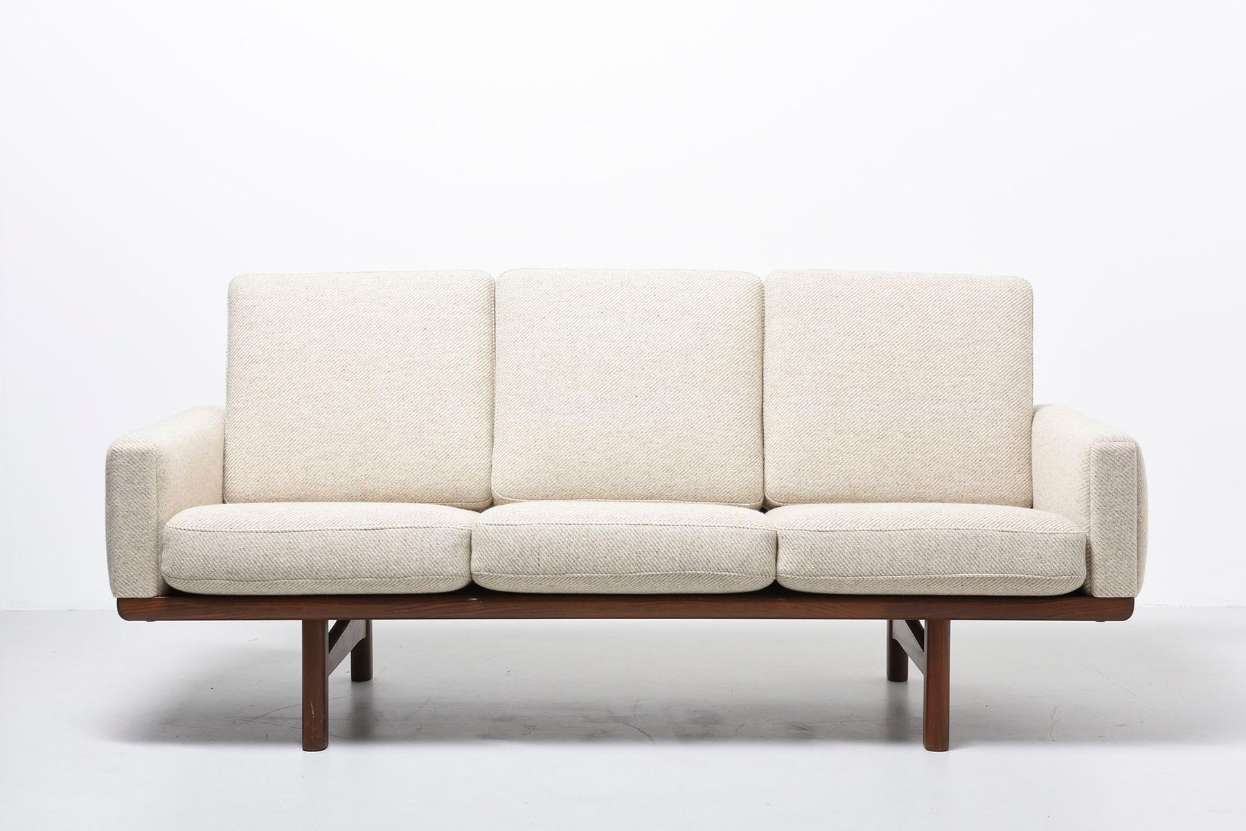 Vintage Model GE 236 3 Teak 3 Seater Sofa by Hans J Wegner for