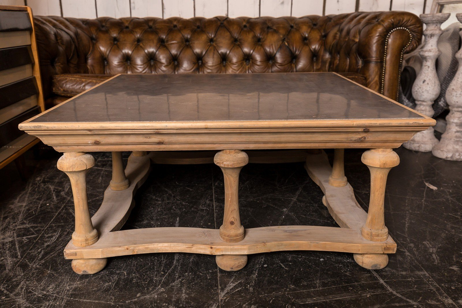 Vintage Coffee Table In Bleached Wood And Slate 6. $1,544.00. Price Per  Piece