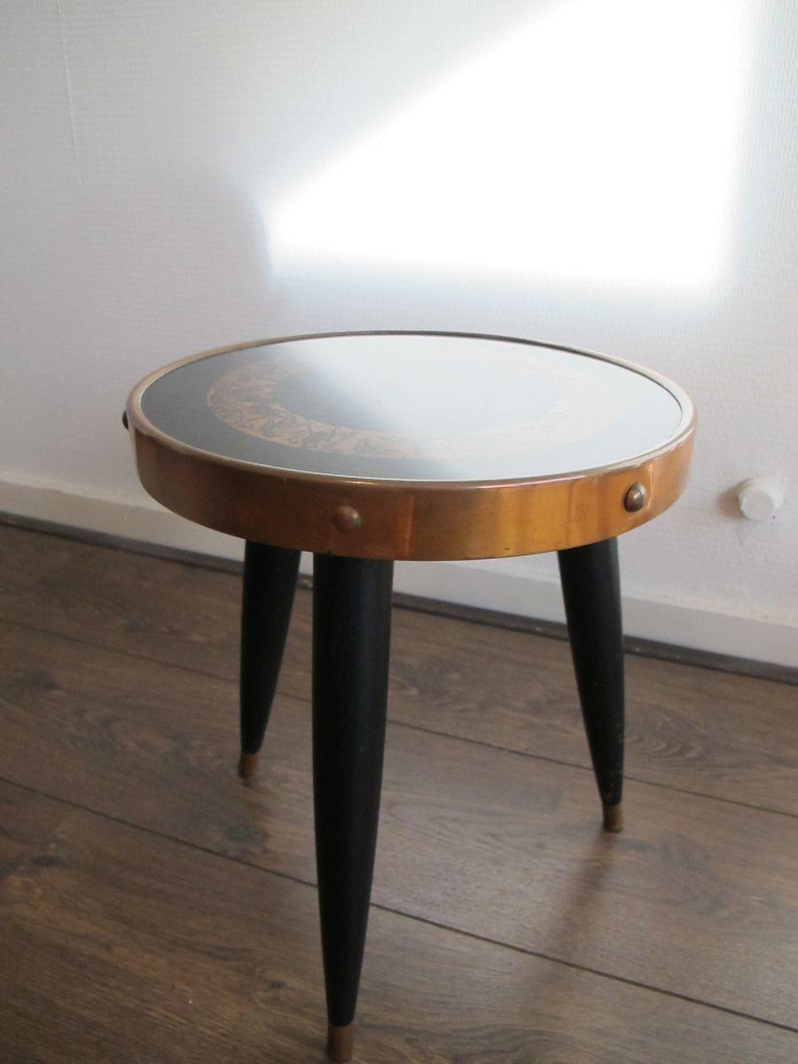 vintage beistelltisch in schwarz messing bei pamono kaufen. Black Bedroom Furniture Sets. Home Design Ideas