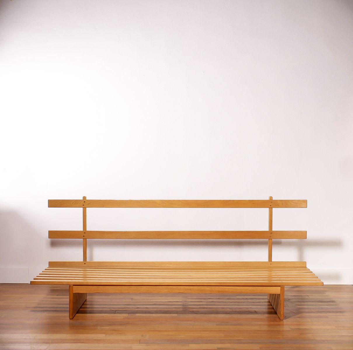 mid century tagesbett aus holz wollstoff von bra bohag f r dux bei pamono kaufen. Black Bedroom Furniture Sets. Home Design Ideas