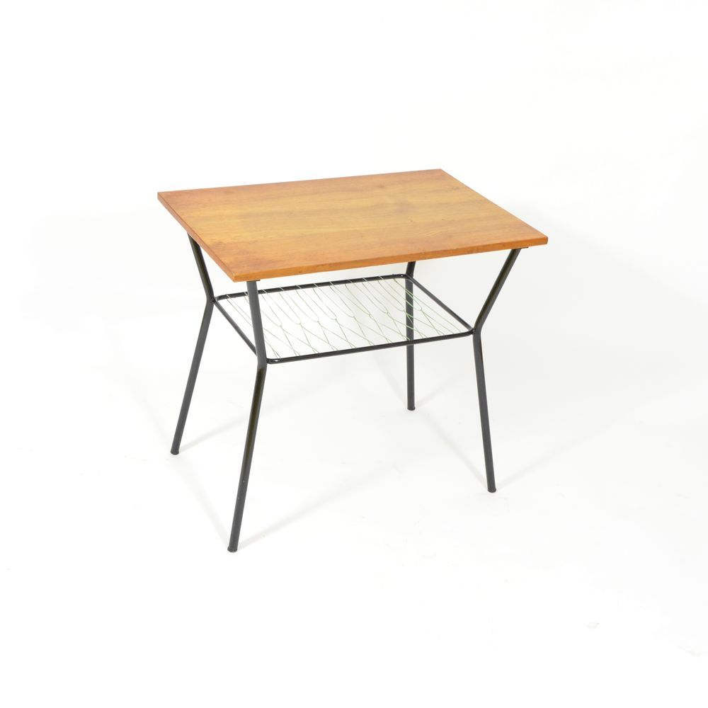 Coffee Table With Metal Rack 1970s For Sale At Pamono