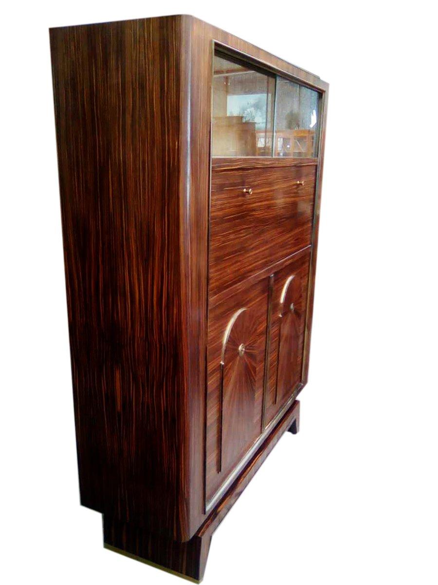 Vintage French Art Deco Macassar Ebony Cabinet