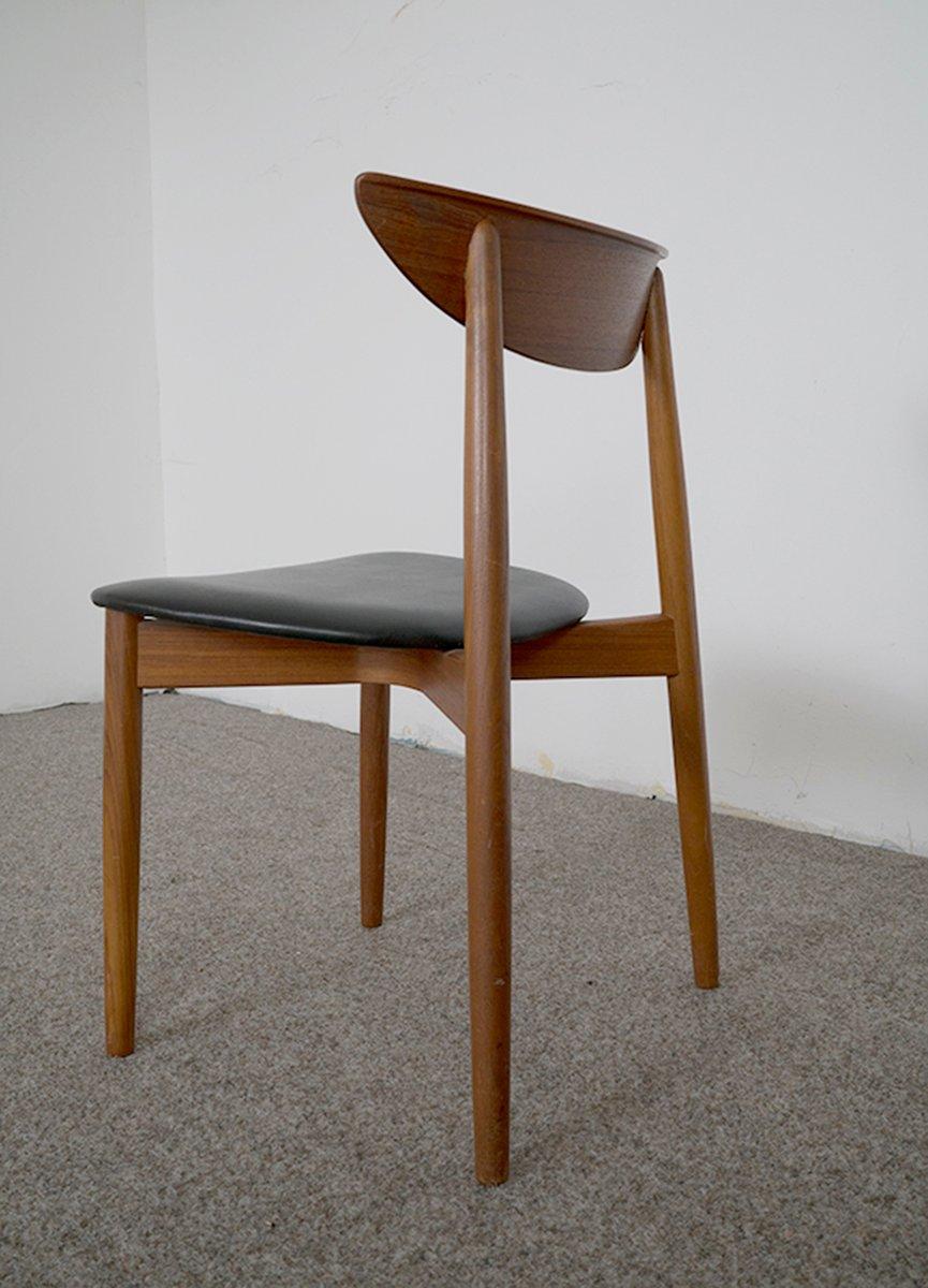 d nische teak st hle 1960er 6er set bei pamono kaufen. Black Bedroom Furniture Sets. Home Design Ideas