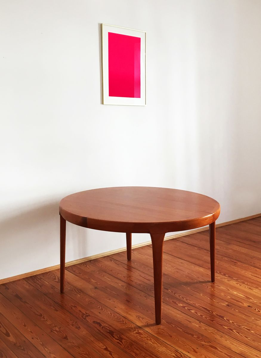 Round Danish Mid Century Teak Dining Table by Ib Kofod  : round danish mid century teak dining table by ib kofod larsen for faarup mobelfabrik 6 from www.pamono.com size 875 x 1200 jpeg 68kB