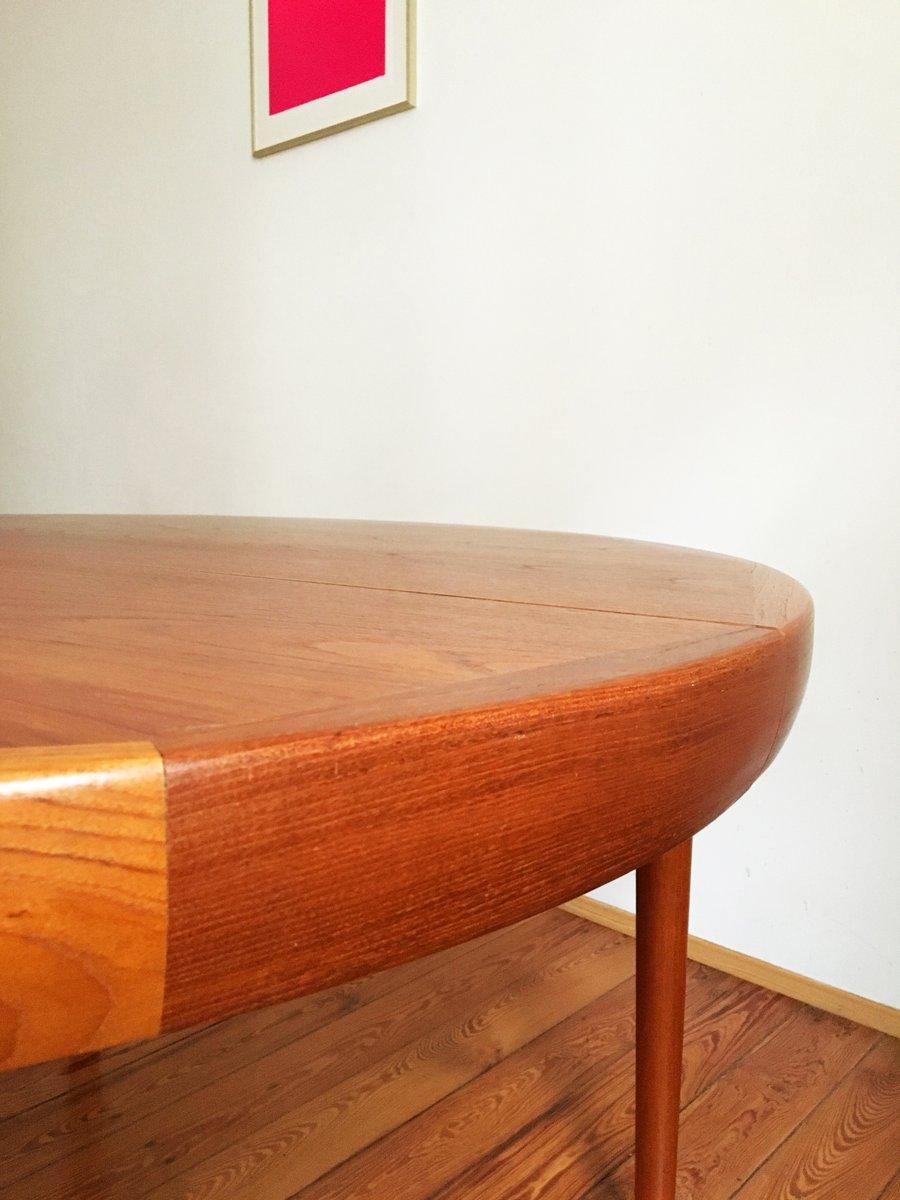 Round Danish Mid Century Teak Dining Table by Ib Kofod  : round danish mid century teak dining table by ib kofod larsen for faarup mobelfabrik 12 from www.pamono.com size 900 x 1200 jpeg 70kB