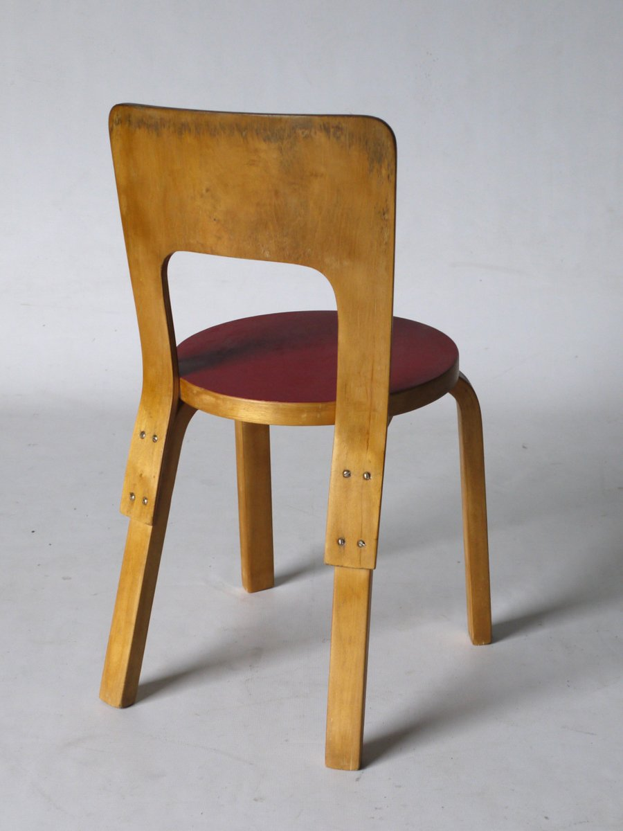 Model 66 side chair by alvar aalto for artek for sale at for Alvar aalto chaise