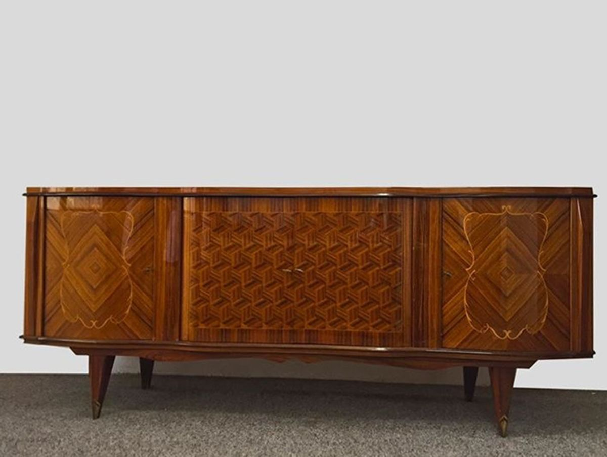 Art deco sideboard in rosewood 1940s for sale at pamono - Deko sideboard ...