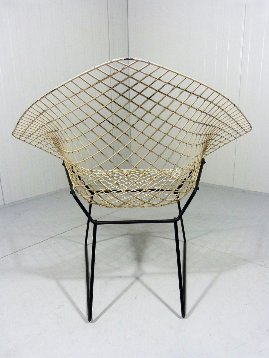 mid century diamond chair by harry bertoia for knoll inc knoll international for sale at pamono. Black Bedroom Furniture Sets. Home Design Ideas