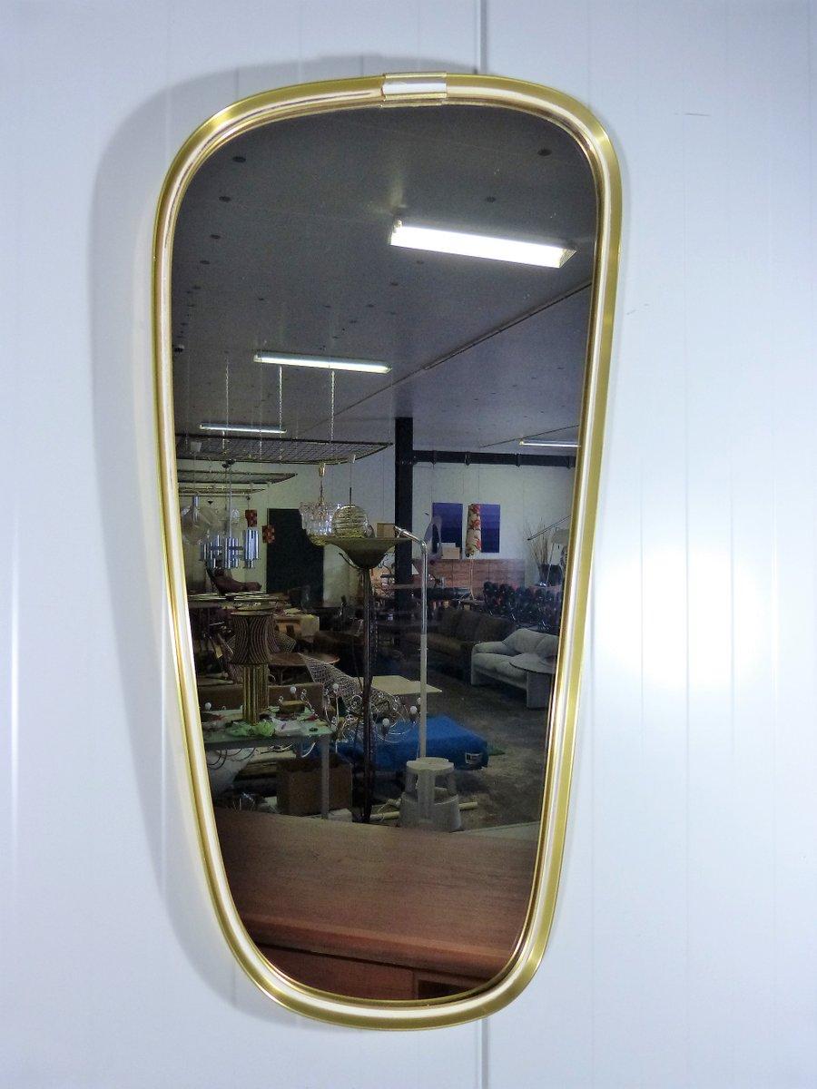 Mid century spiegel mit messingrahmen von vereinigte for Spiegel mit messingrahmen