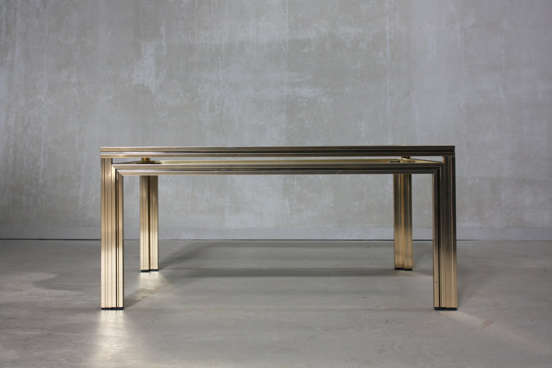 Gold Square Coffee Table by Pierre Vandel 1970s for sale at Pamono