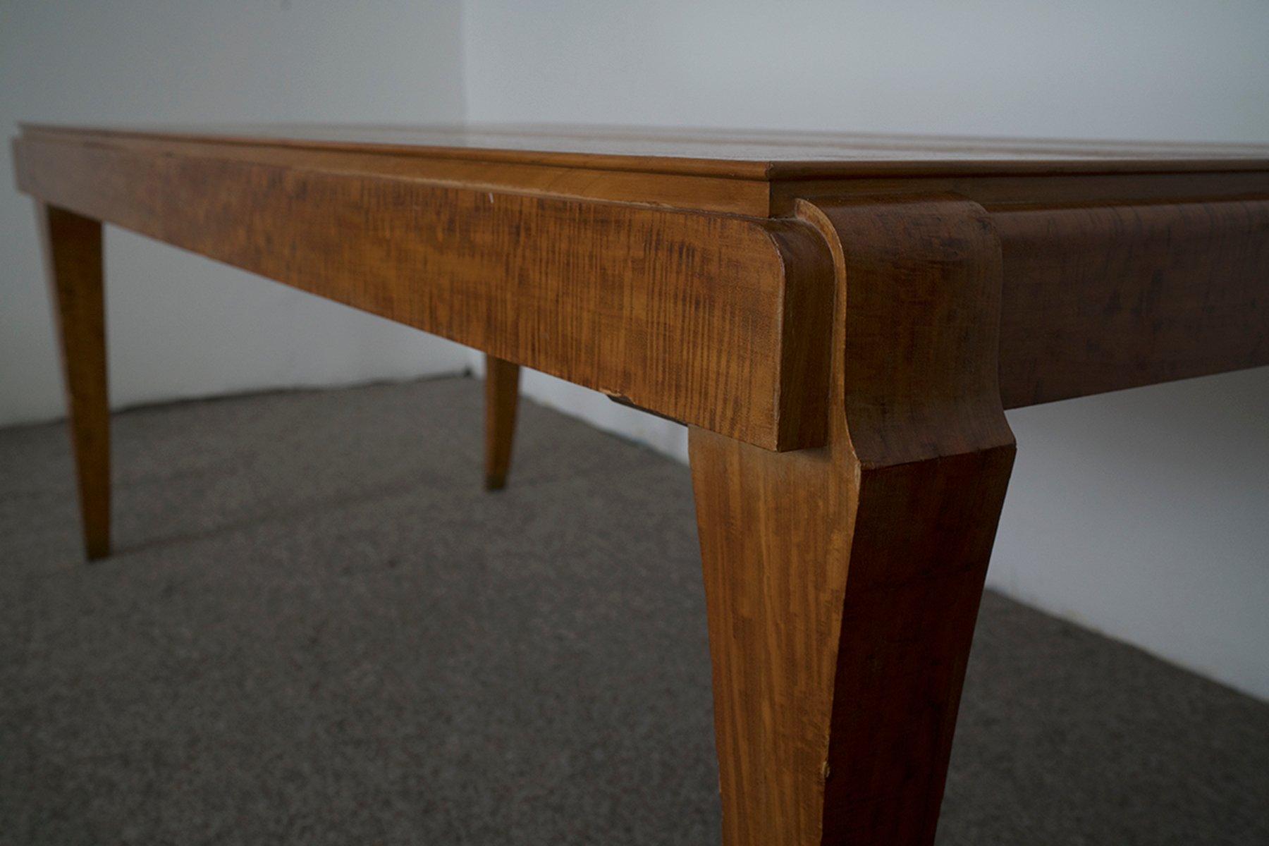franz sischer vintage esstisch aus eucalyptus bei pamono. Black Bedroom Furniture Sets. Home Design Ideas