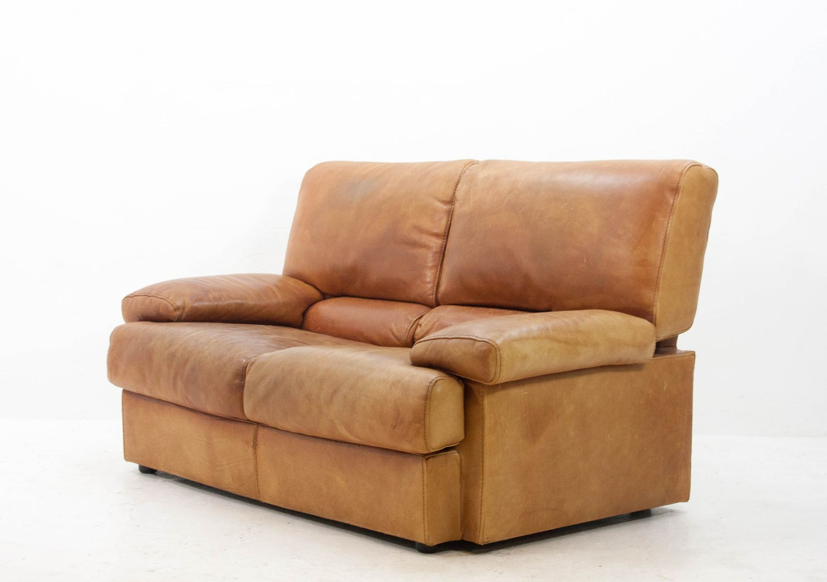 Vintage 2 Seater Butterscotch Leather Sofa from Cierre Imbottiti