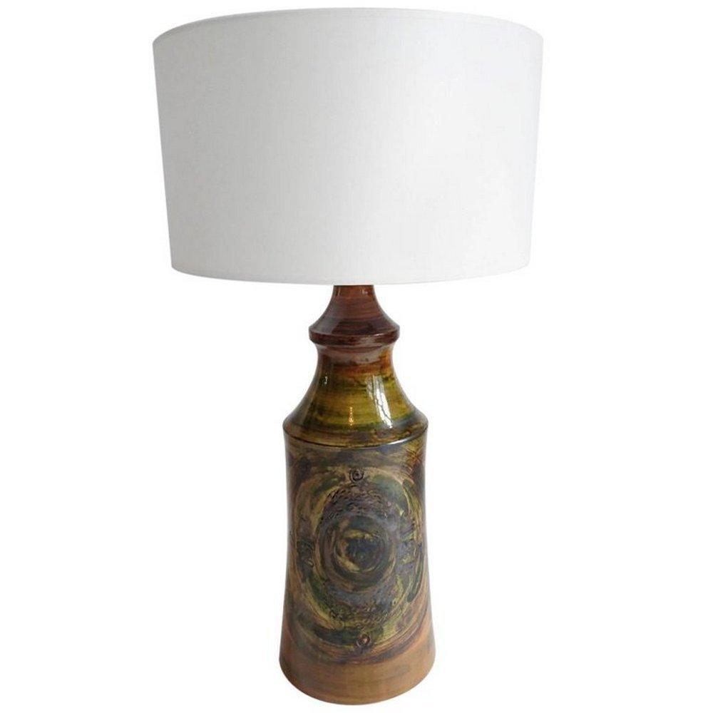 Large Swedish Ceramic Brutalist Studio Table Lamp, 1970s for sale ...
