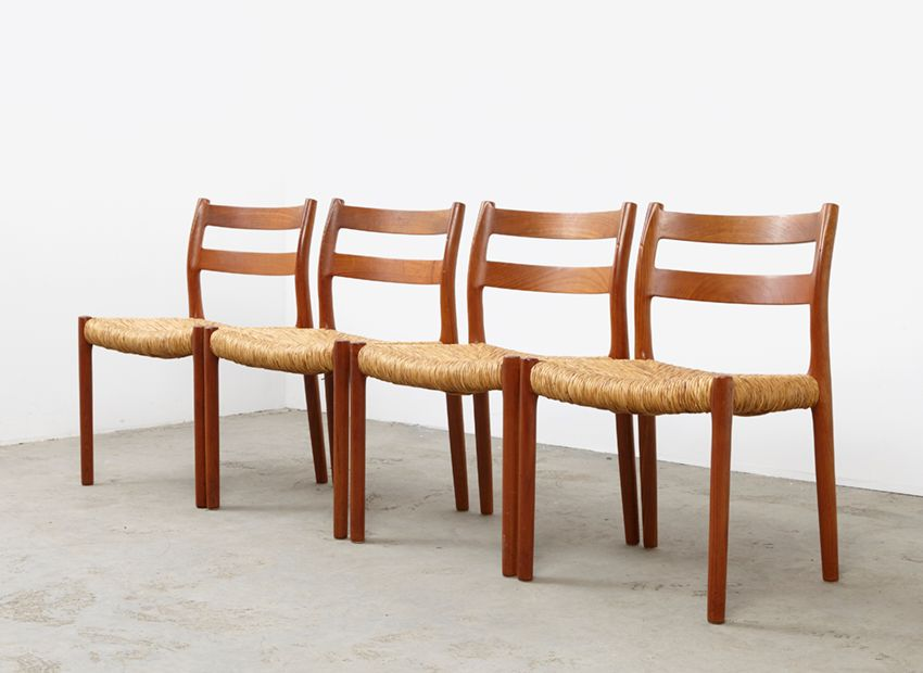 Vintage 84 Teak Dining Chairs by NO M248ller for JL  : vintage 84 teak dining chairs by n o moller for j l mollers set of 4 2 from www.pamono.com size 850 x 620 jpeg 231kB