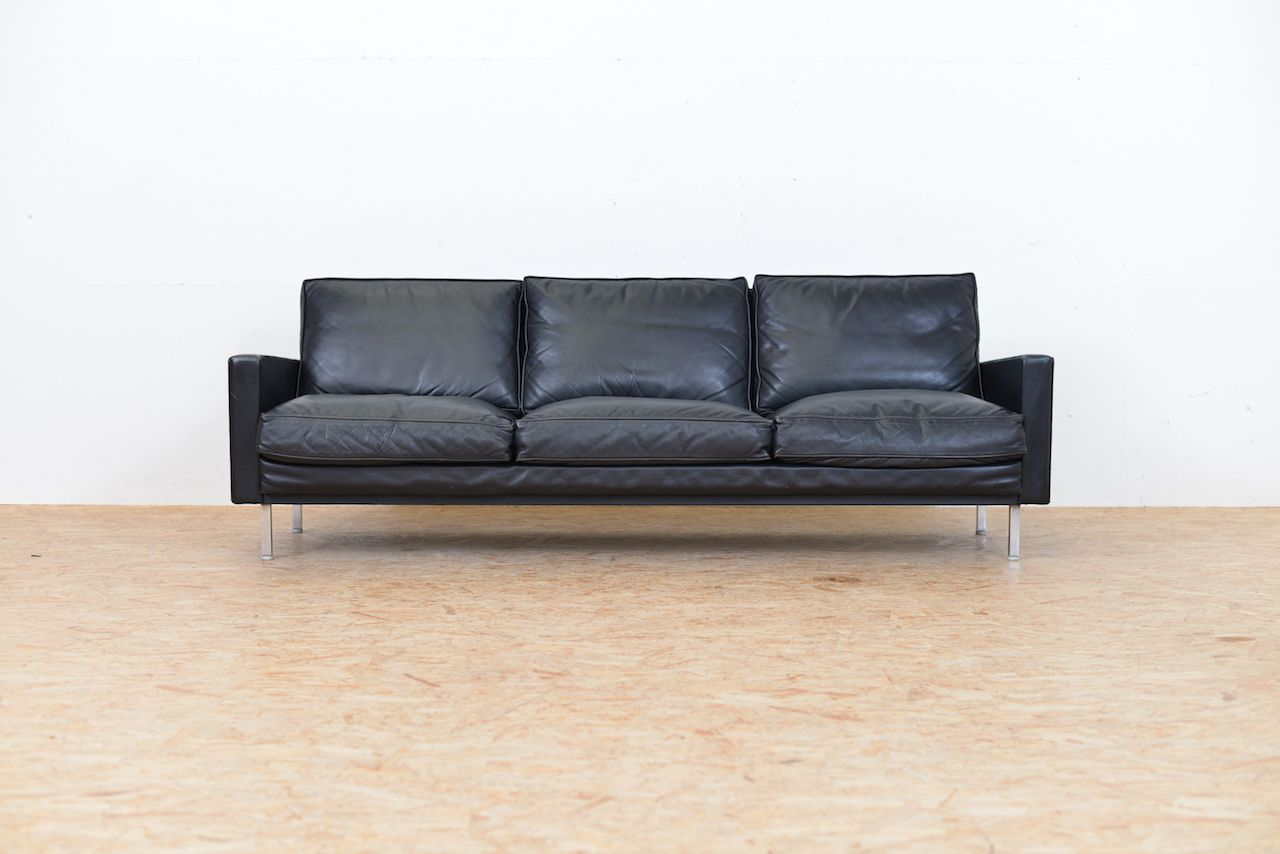 Loose cushion leather sofa by george nelson for herman for Cushions for leather sofas