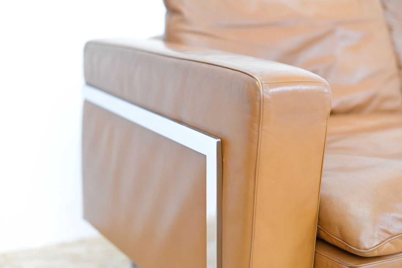 RH 302 Leather 3 Seater Sofa By Trix amp Robert Haussmann