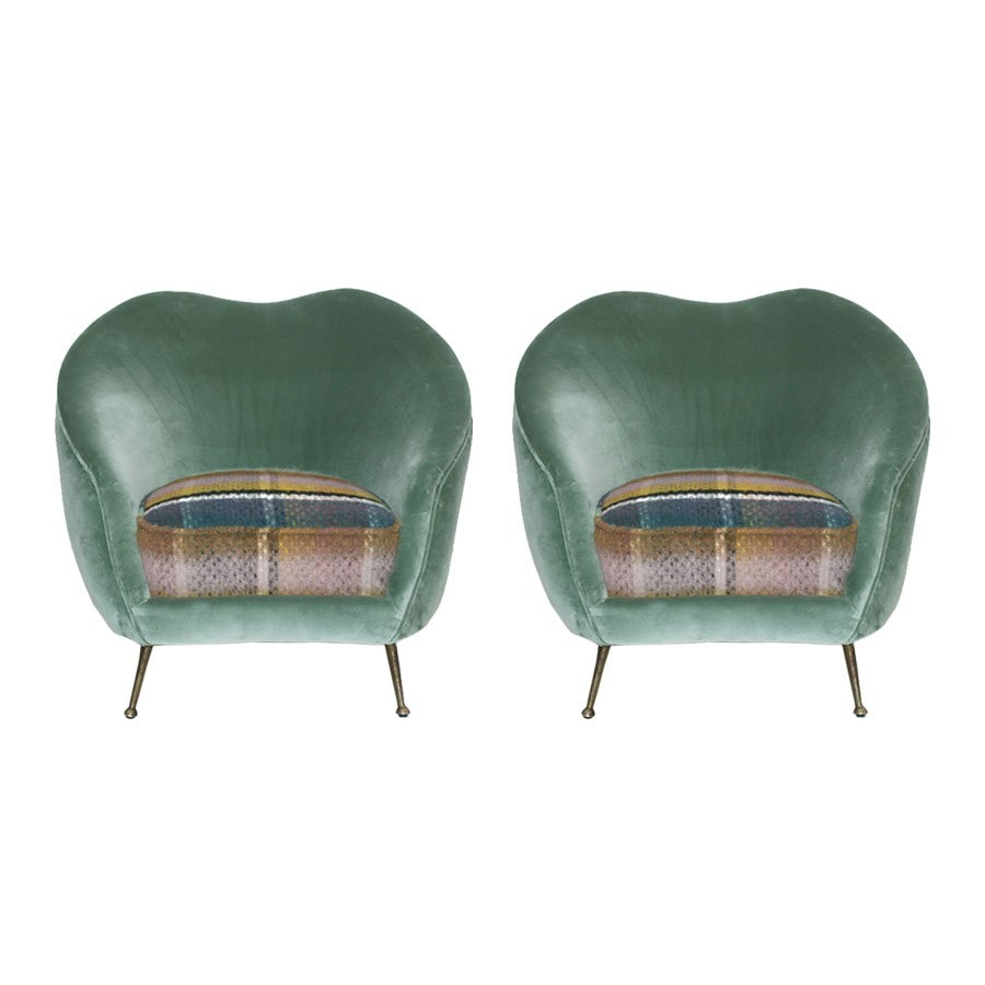 Italienische sessel von federico munari 1950er 2er set for Italienische sessel design