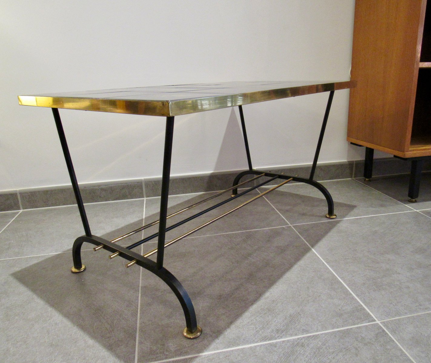Vintage Coffee Table In Black And Gold 10. $585.00. Price Per Piece
