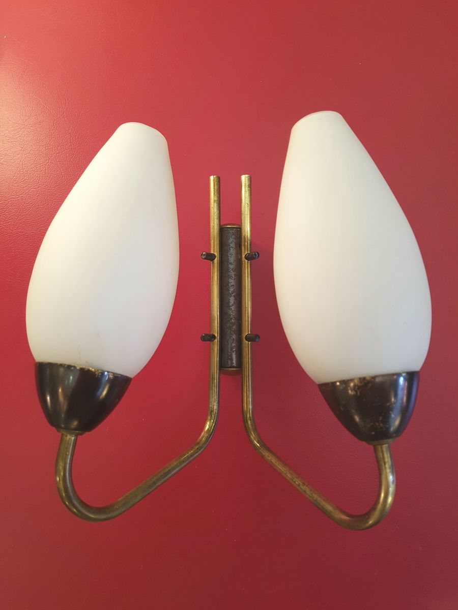 Wall Sconces Set Of 2 : Wall Sconces, 1950s, Set of 2 for sale at Pamono