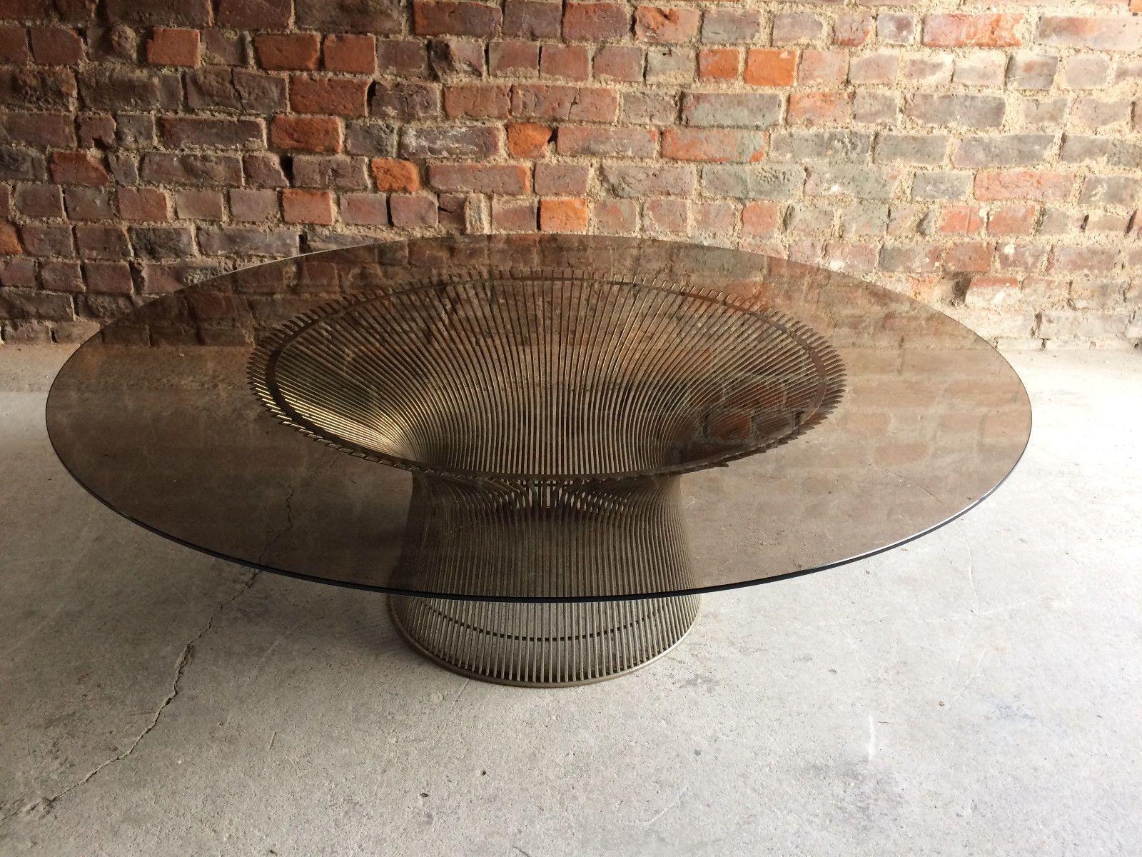 Coffee Table in Steel & Glass by Warren Platner for Knoll