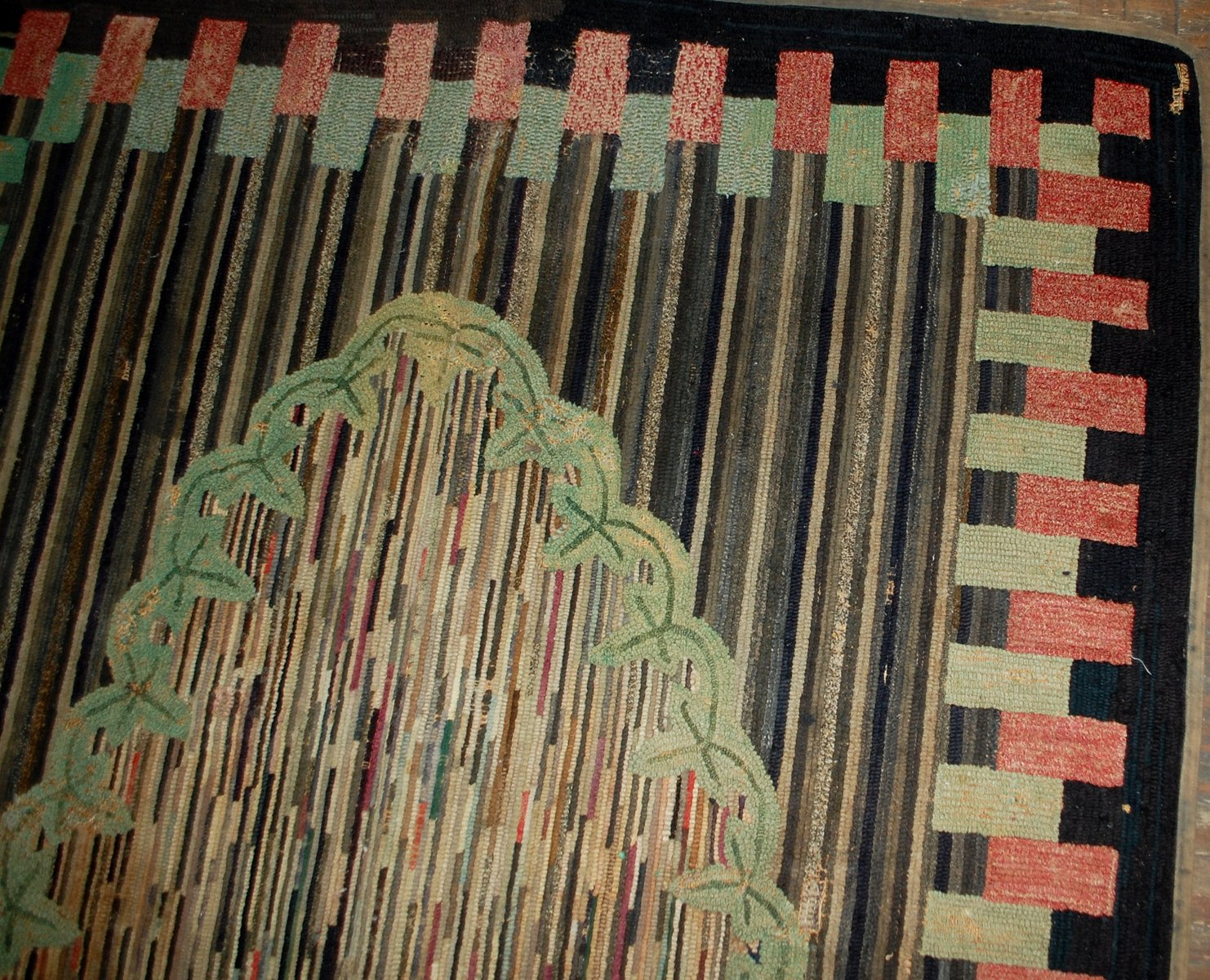 antique handmade american hooked rug 1880s for sale at pamono. Black Bedroom Furniture Sets. Home Design Ideas