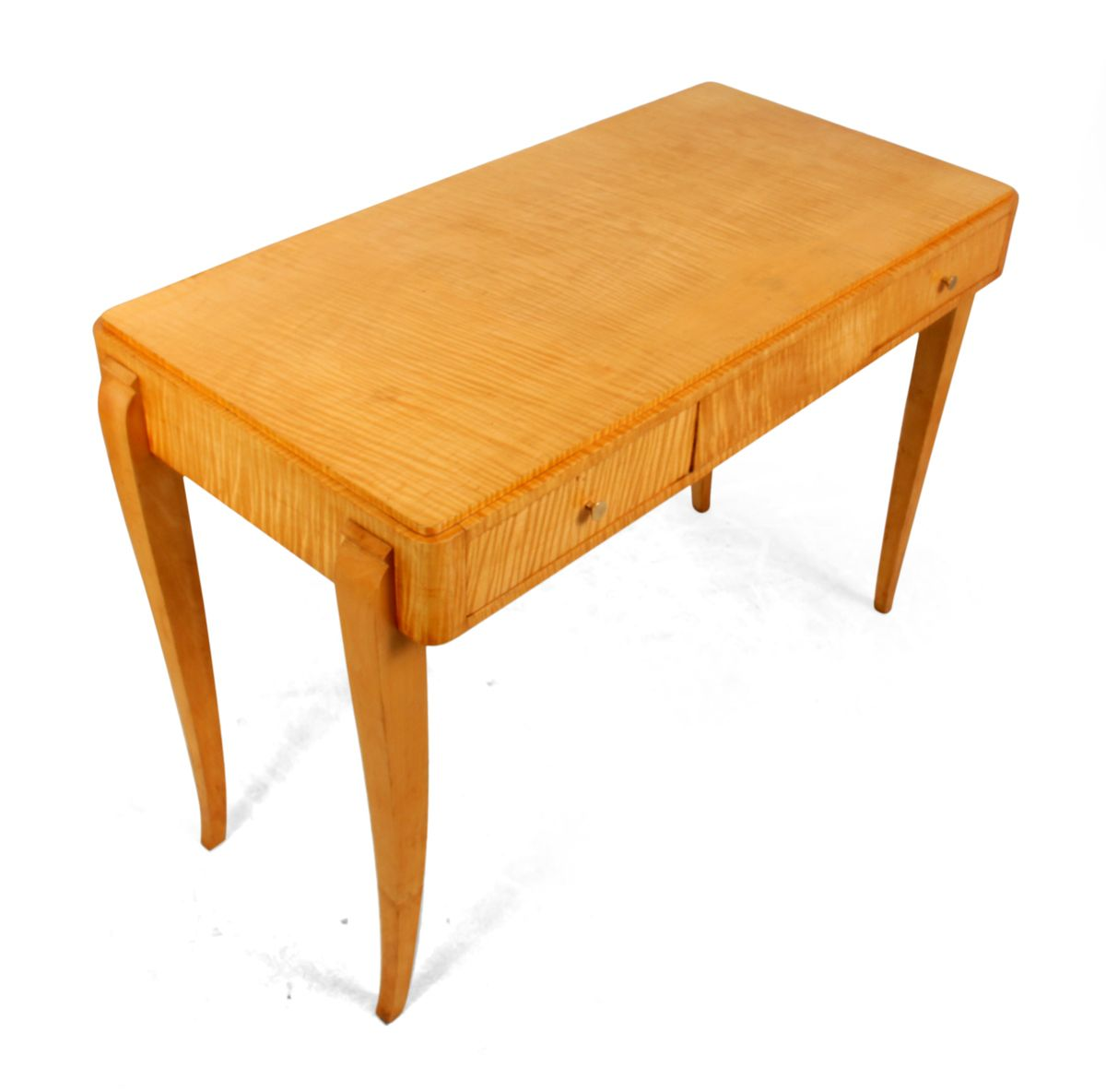Art deco writing table in satin birch 1930s for sale at for Miroir art deco 1930