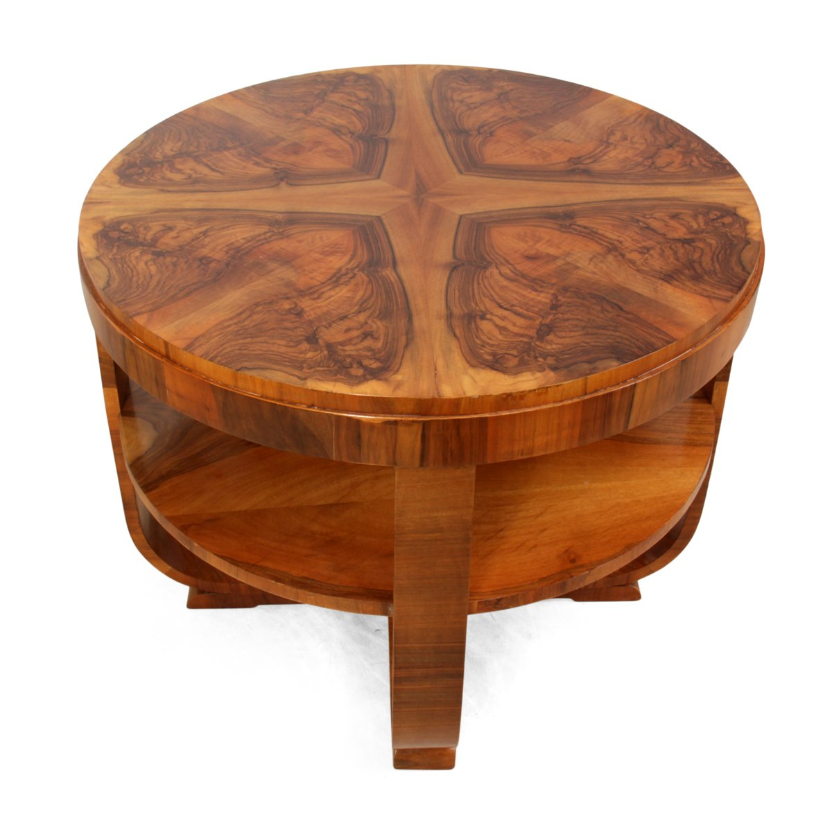 Art Deco Coffee Table In Walnut 1930s For Sale At Pamono