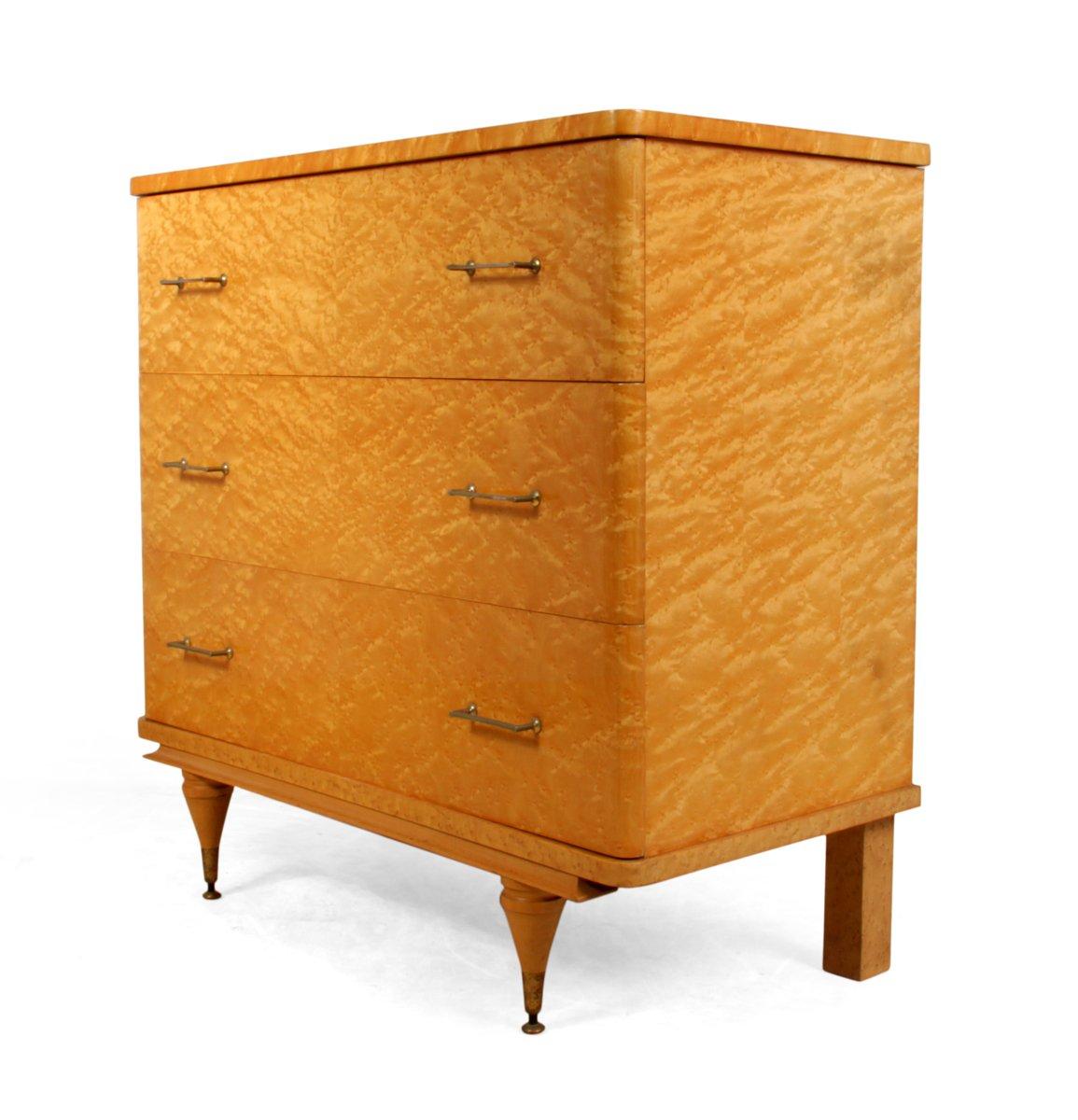 italienische kommode aus vogelaugenahorn 1950er bei. Black Bedroom Furniture Sets. Home Design Ideas