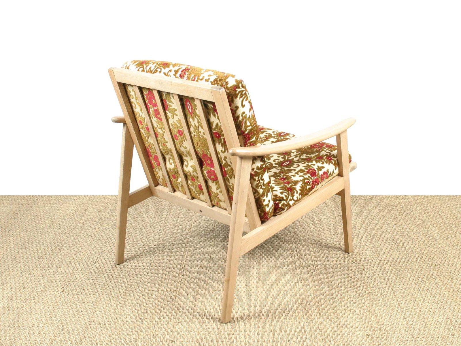 franz sischer sessel aus hellem holz 1960er bei pamono kaufen. Black Bedroom Furniture Sets. Home Design Ideas