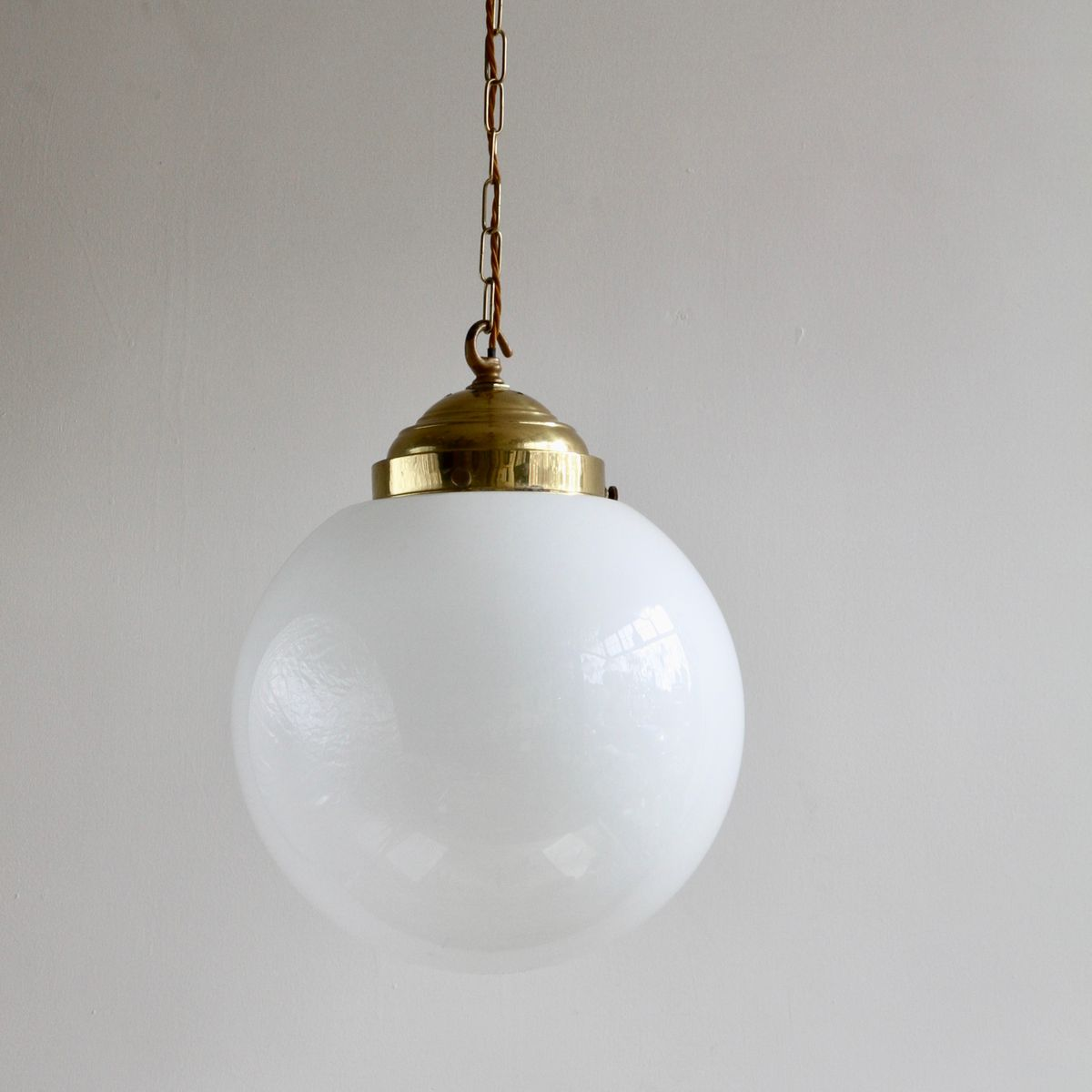 Vintage Large Opaline Pendant Lamp For Sale At Pamono
