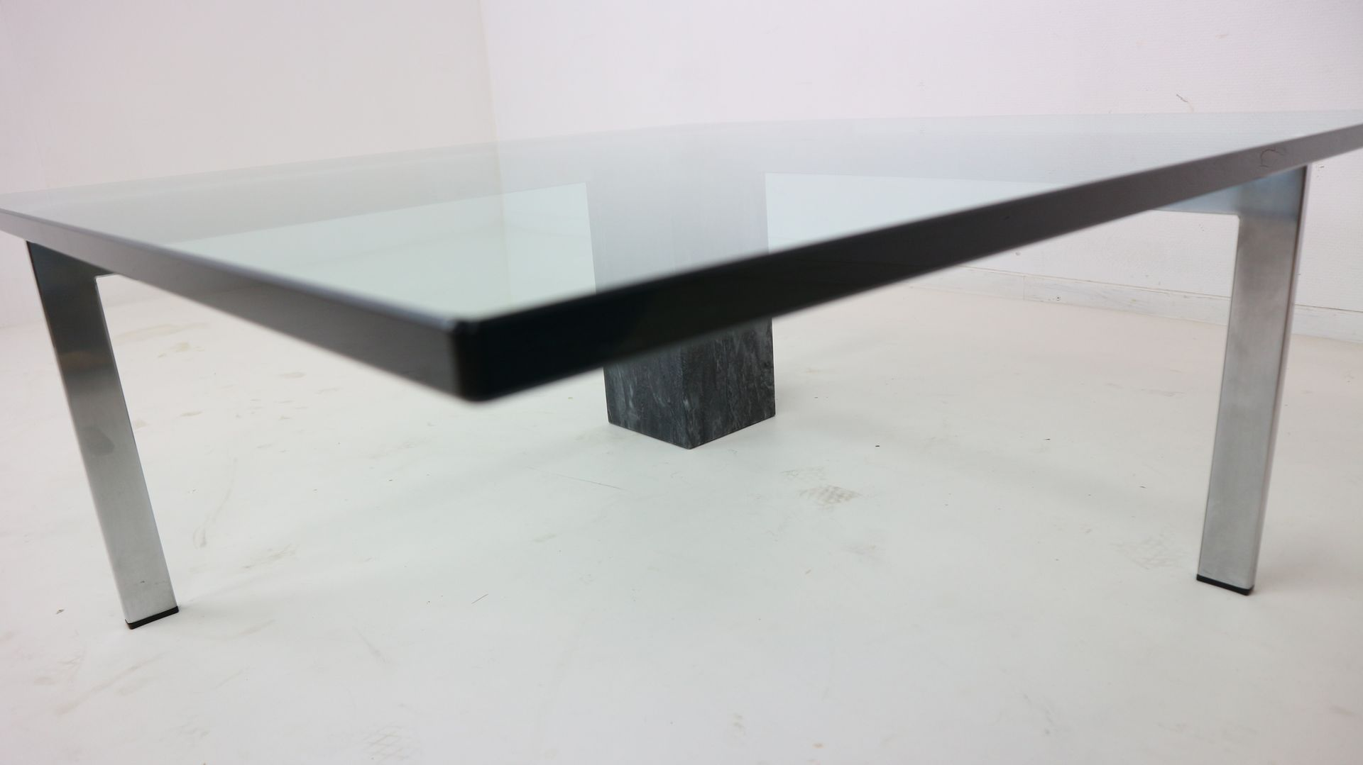 Modernist Italian Marble Glass Coffee Table 1970s For Sale At Pamono