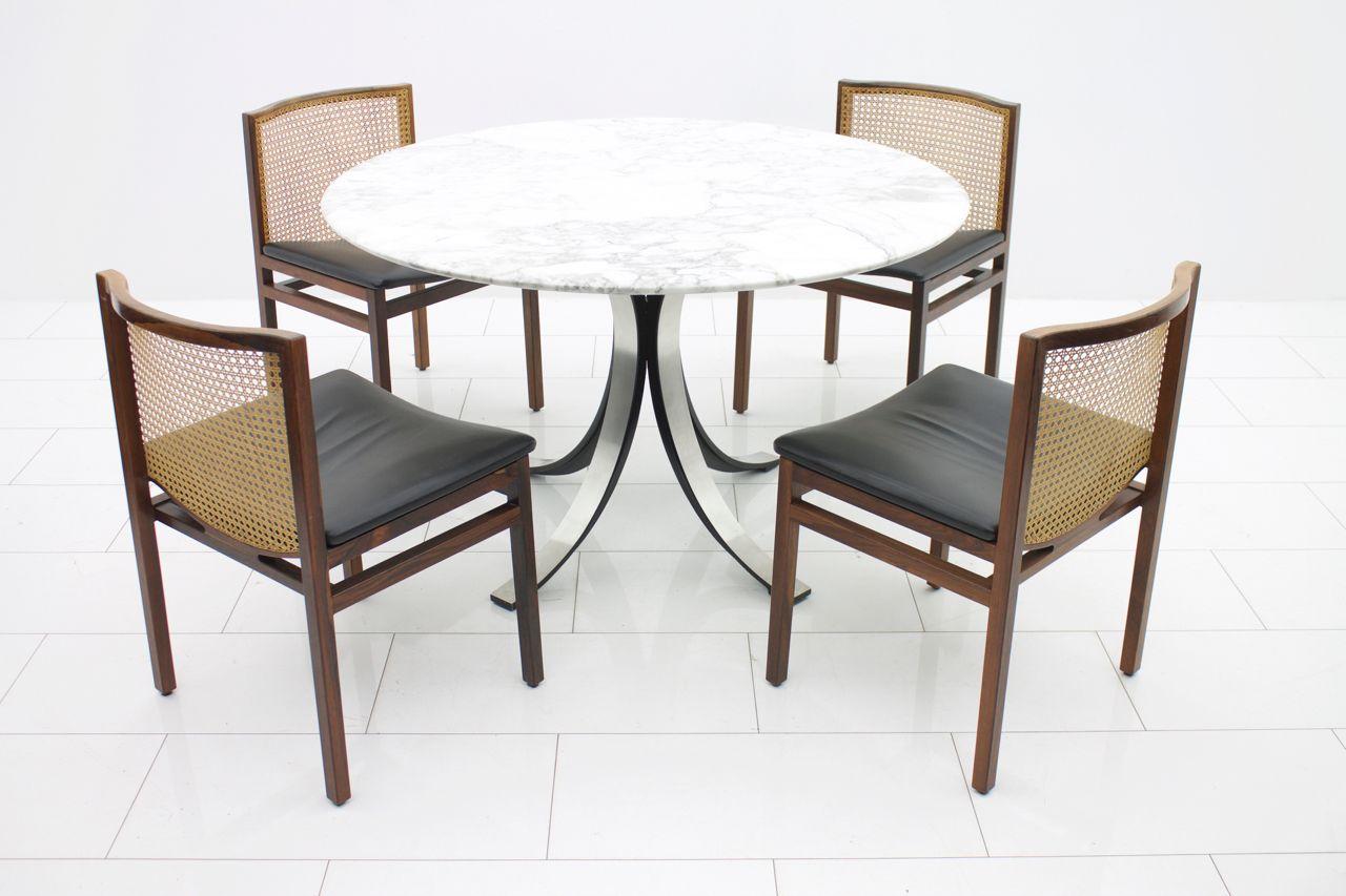 italienischer mid century marmor esstisch von osvaldo. Black Bedroom Furniture Sets. Home Design Ideas