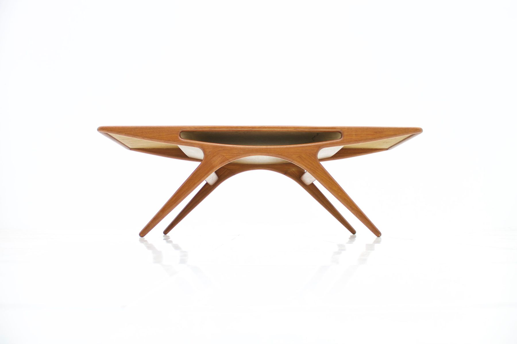 Vintage Danish Smile Coffee Table in Teak by Johannes Andersen for