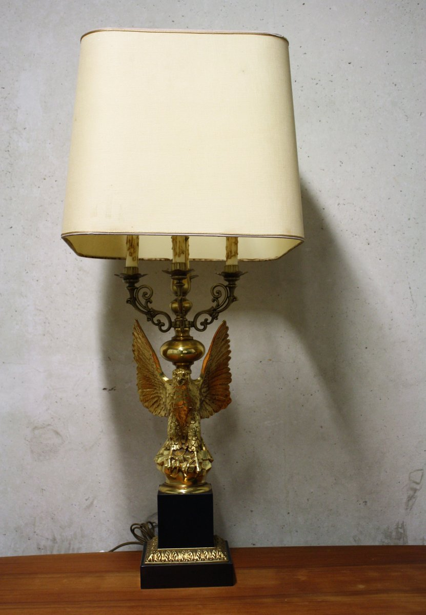 Mid-Century Hollywood Regency Eagle Lamp from Deknudt, 1960s for ...
