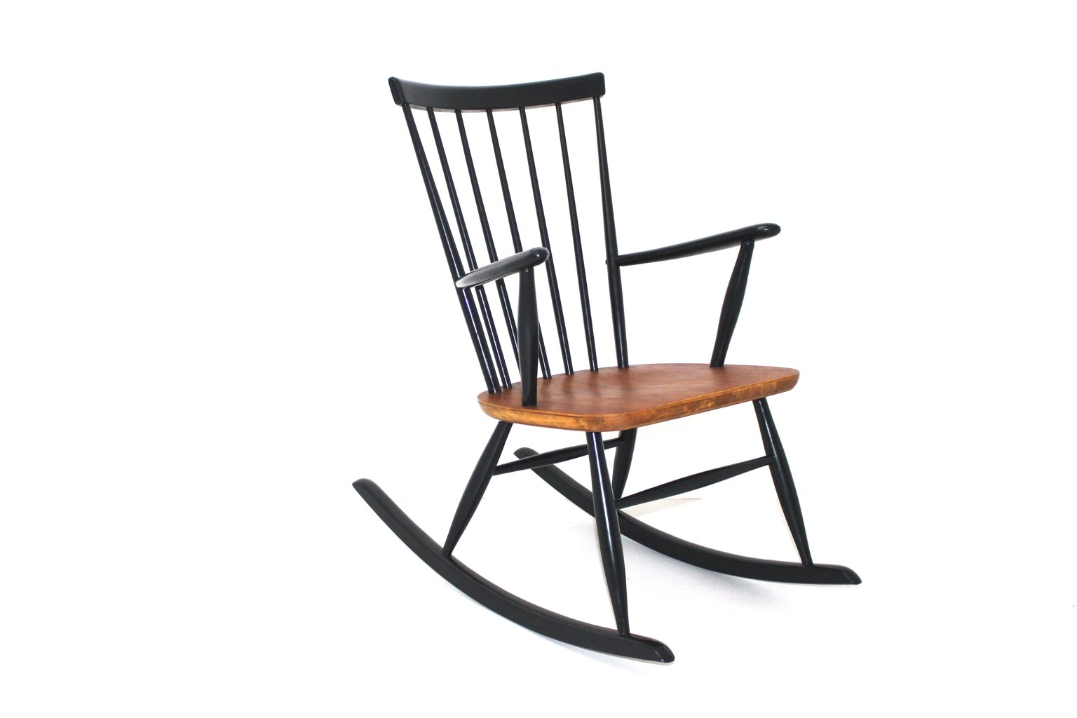 schaukelstuhl von roland rainer f r thonet 1950er bei pamono kaufen. Black Bedroom Furniture Sets. Home Design Ideas