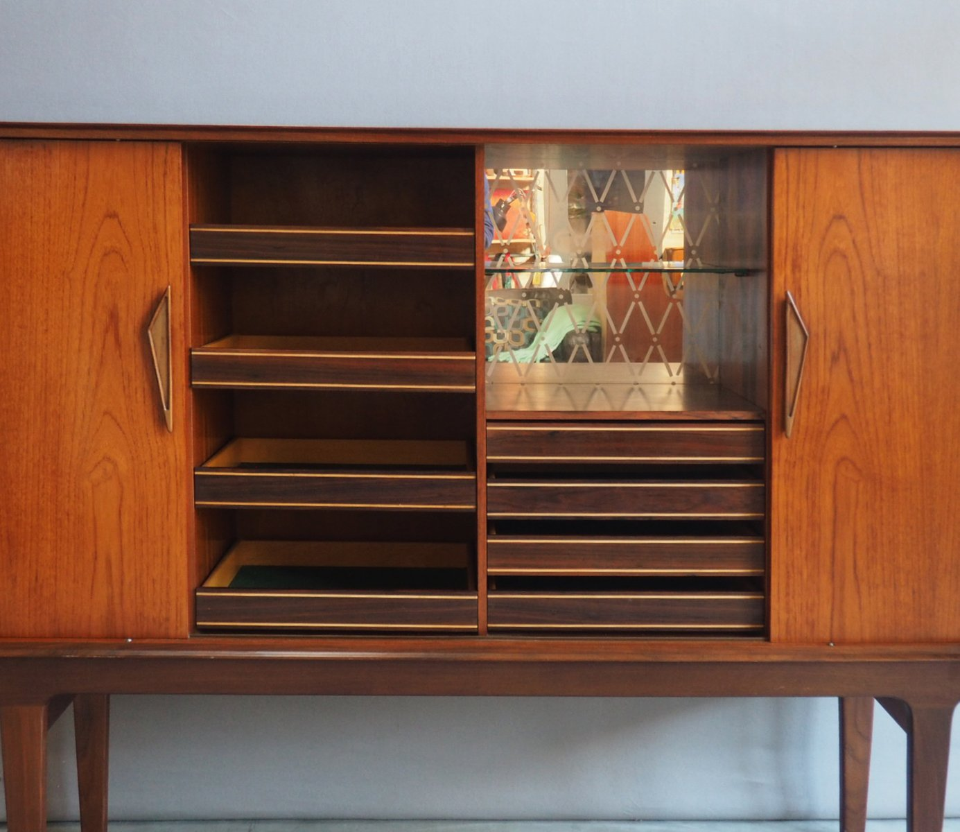 danish sideboard with sliding doors 1960s for sale at pamono. Black Bedroom Furniture Sets. Home Design Ideas