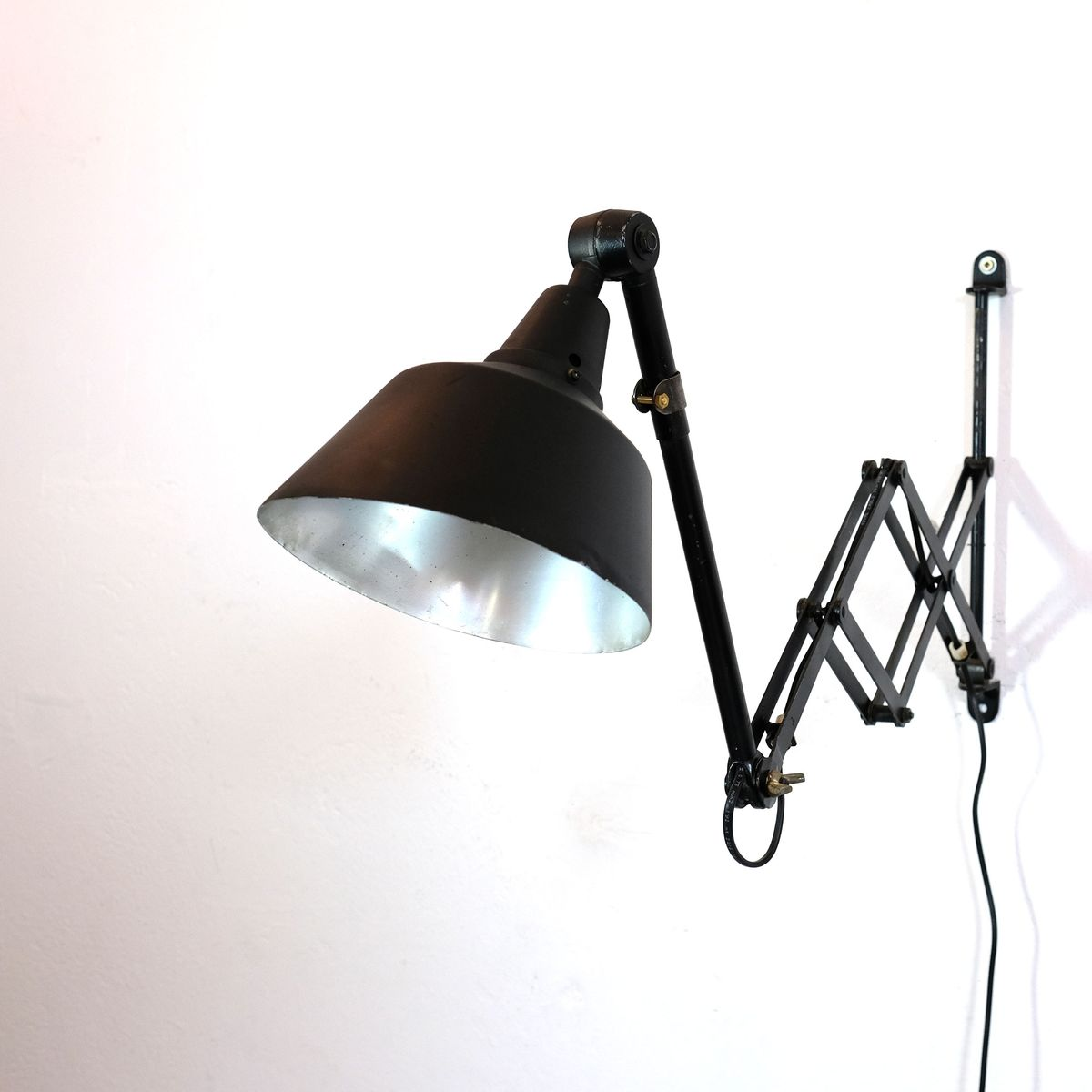 Wall Mounted Scissor Lamp by Curt Fischer for Midgard, 1960s for sale at Pamono