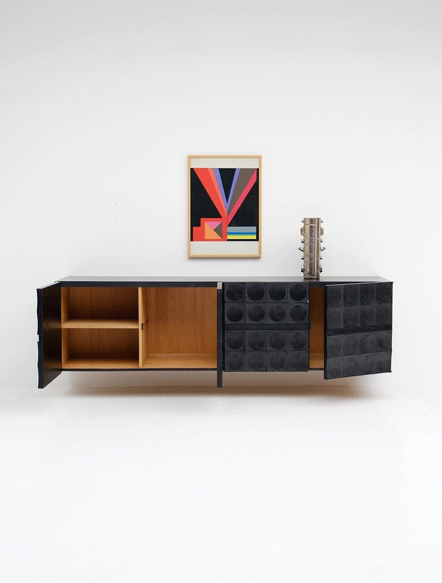 schwebendes sideboard von de coene 1970er bei pamono kaufen. Black Bedroom Furniture Sets. Home Design Ideas