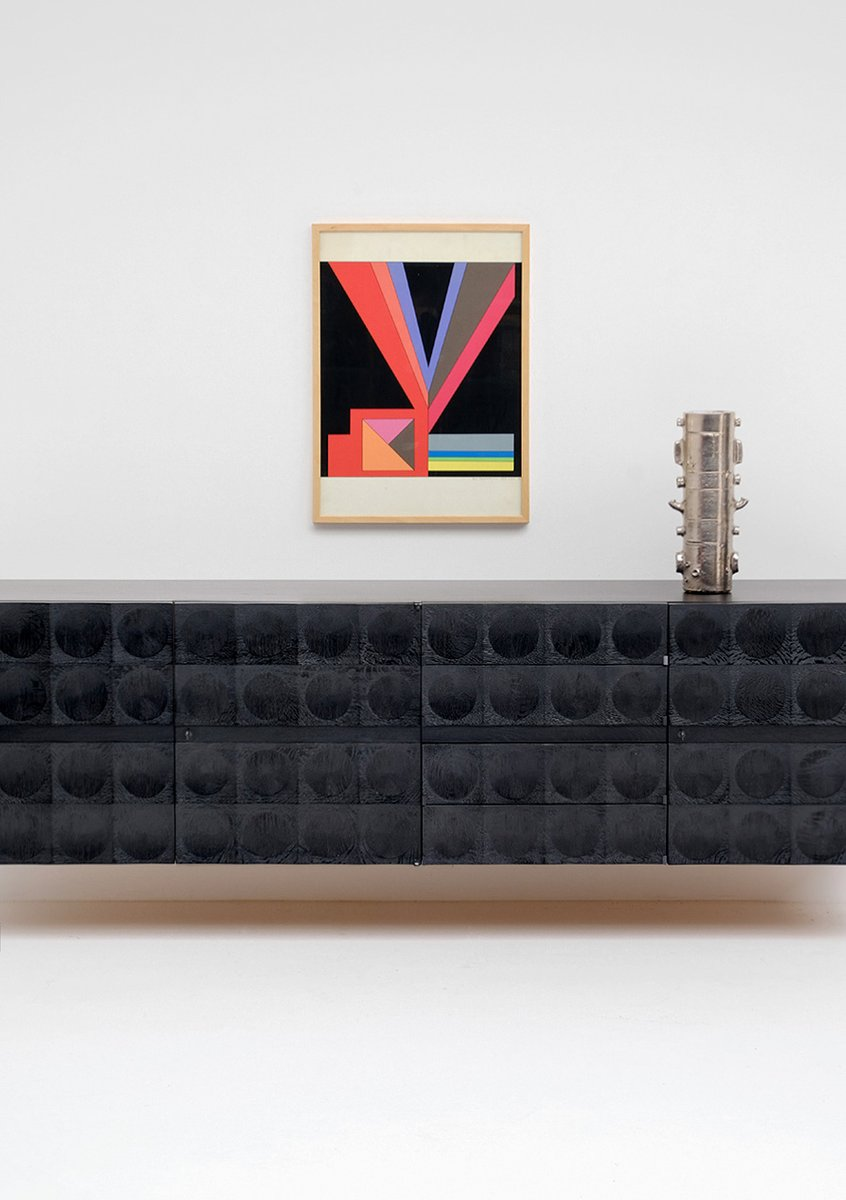 floating sideboard from de coene 1970s for sale at pamono. Black Bedroom Furniture Sets. Home Design Ideas