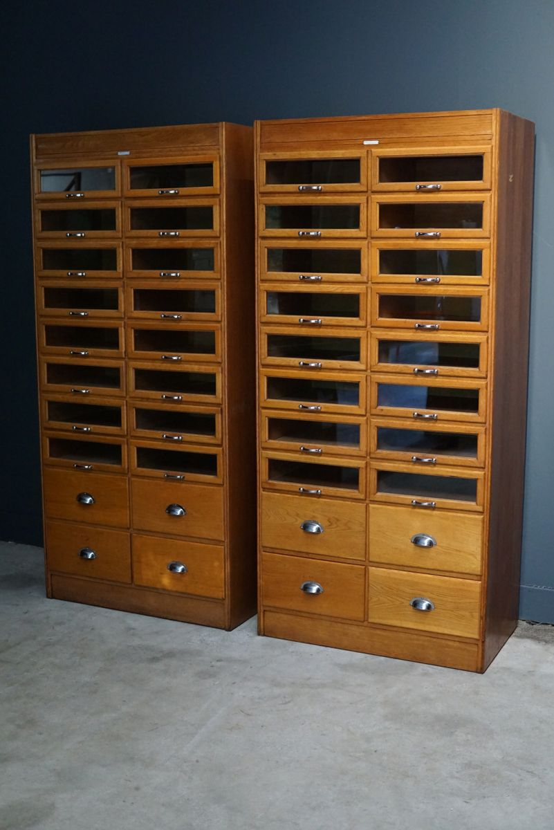 Oak haberdashery cabinet 1930s for sale at pamono for 1930s kitchen cabinets for sale