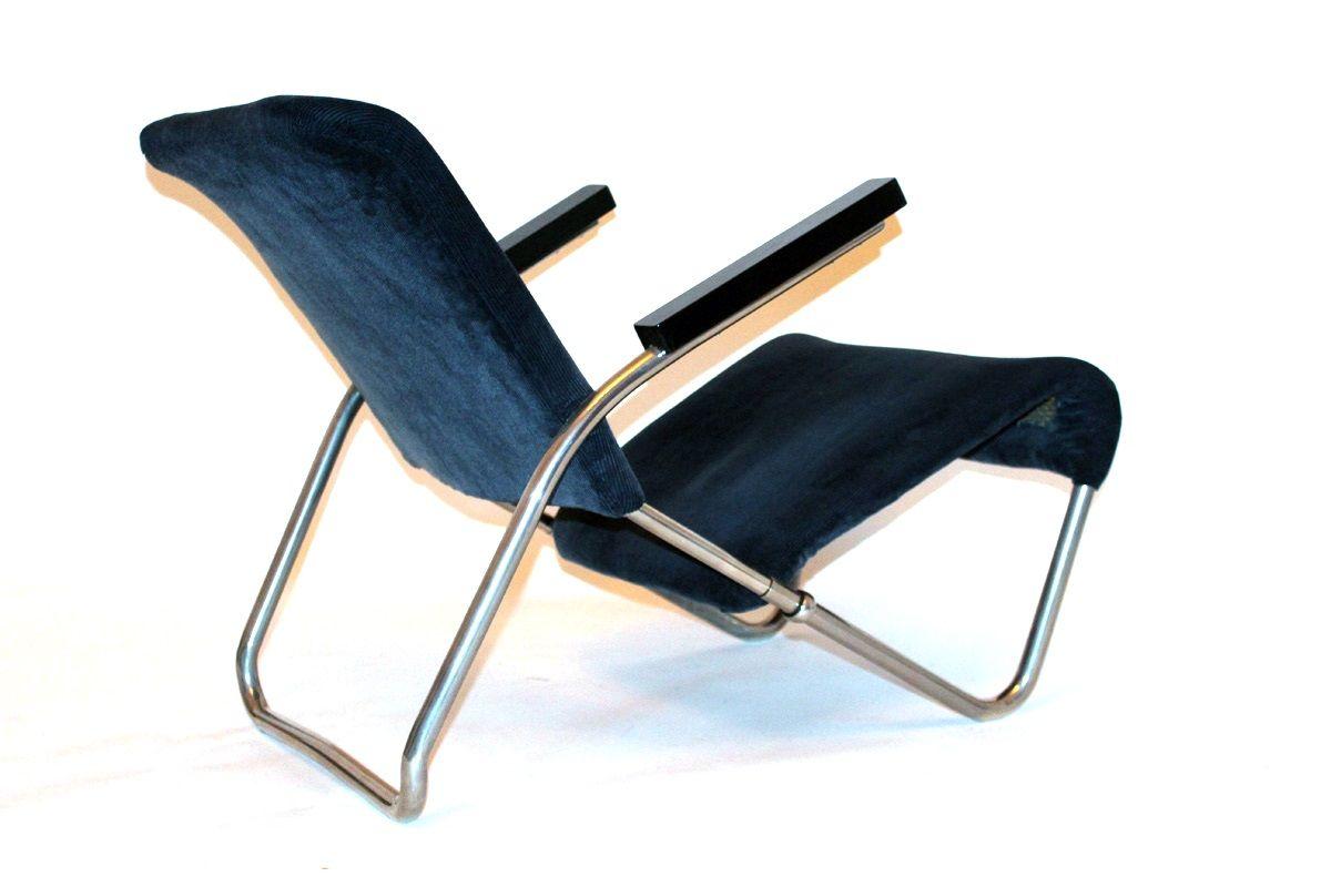 stahlrohr liegestuhl von talos 1950er bei pamono kaufen. Black Bedroom Furniture Sets. Home Design Ideas